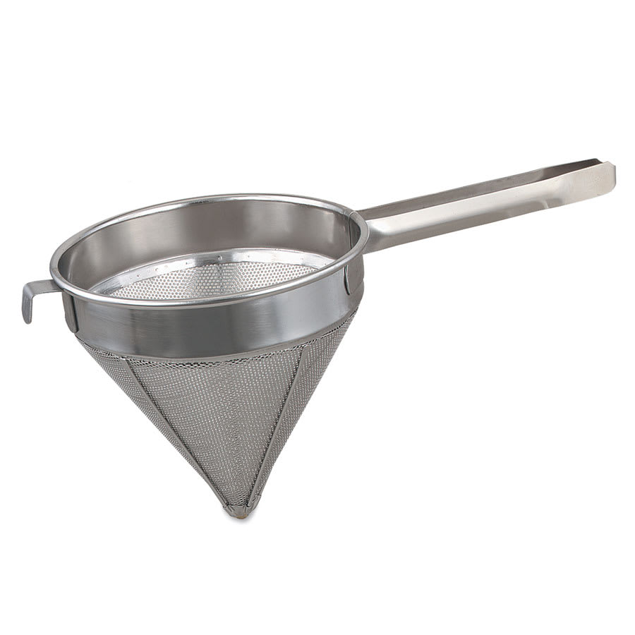 """Browne S5010F China Cap/Strainer, 10"""" Bowl, Fine, 18/8 Stainless Steel"""