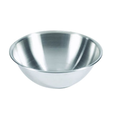 Browne 575923 Mixing Bowl, 3 qt, Rolled Edge, Heavy-Duty 18/8 Stainless Steel