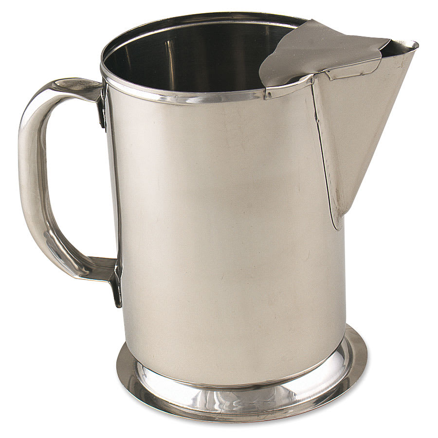 Browne 515080 Water Pitcher, w/ Ice Guard, 64 oz capacity, 18/8 Stainless Steel, Gadroon Base