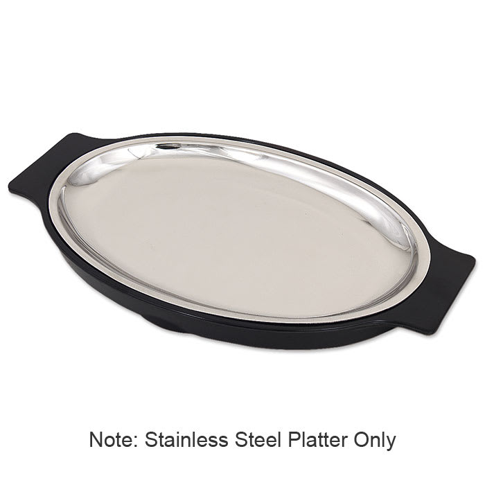 Browne SO128P Platter, Stainless Steel, 10-8/9 x 7-3/4 in, Oval