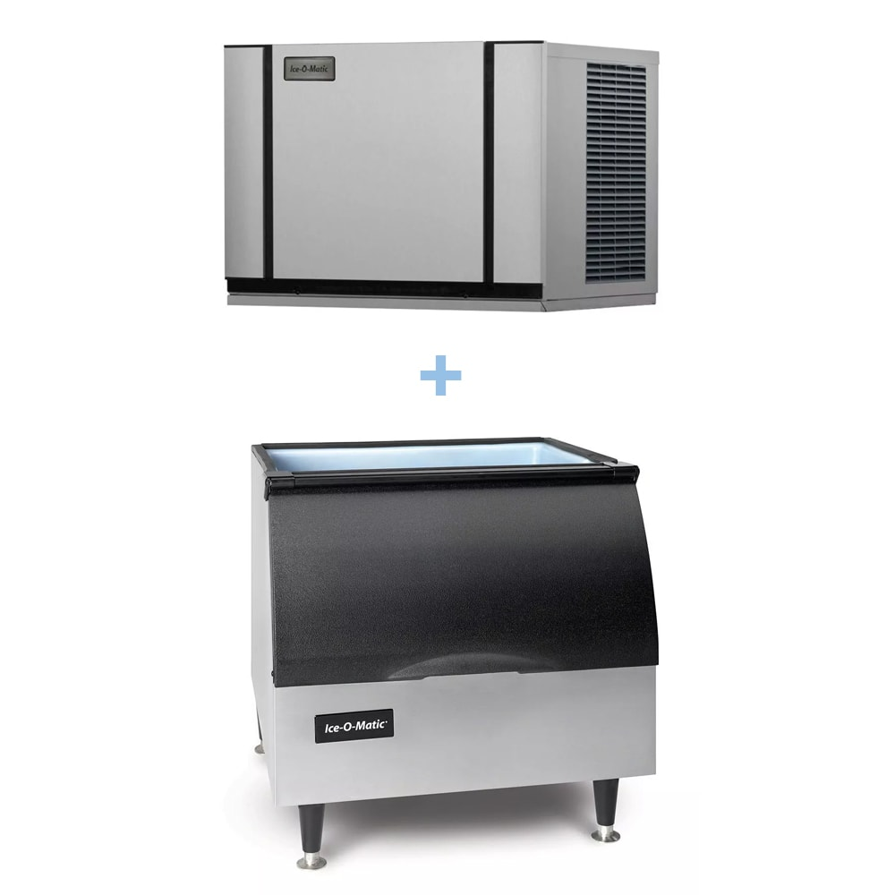 Ice-O-Matic CIM0330HA/B25PP 305 lb Half Cube Ice Maker w/ Bin - 242 lb Storage, Air Cooled, 115v