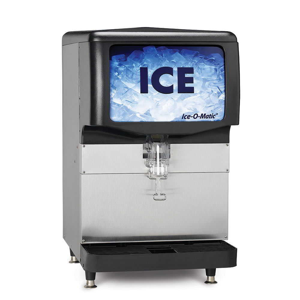 Ice-O-Matic IOD150 Countertop Cube Ice Dispenser w/ 150 lb Storage - Cup Fill, 115v