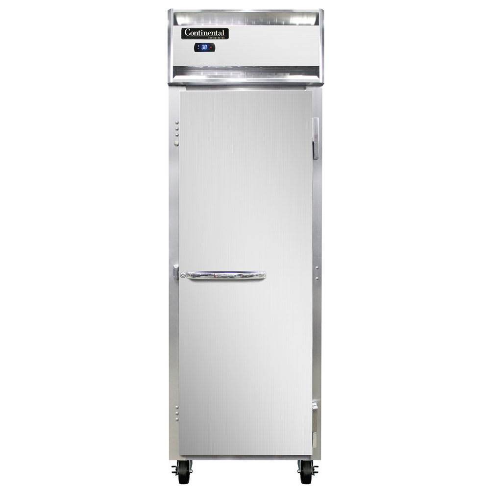 "Continental Refrigeration 1F 26"" One Section Reach-In Freezer, (1) Solid Door, 115v"