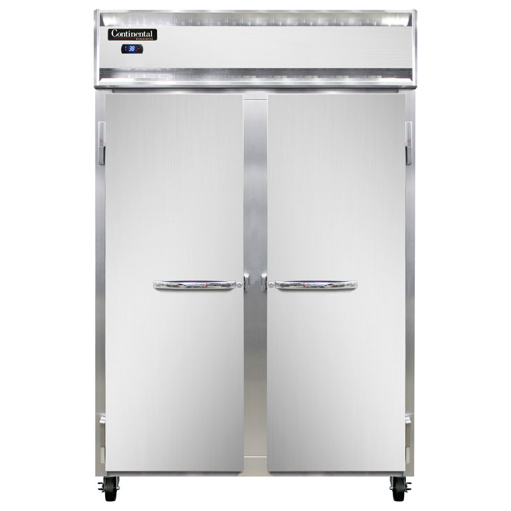 "Continental Refrigeration 2F 52"" Two Section Reach-In Freezer, (2) Solid Doors, 115v"