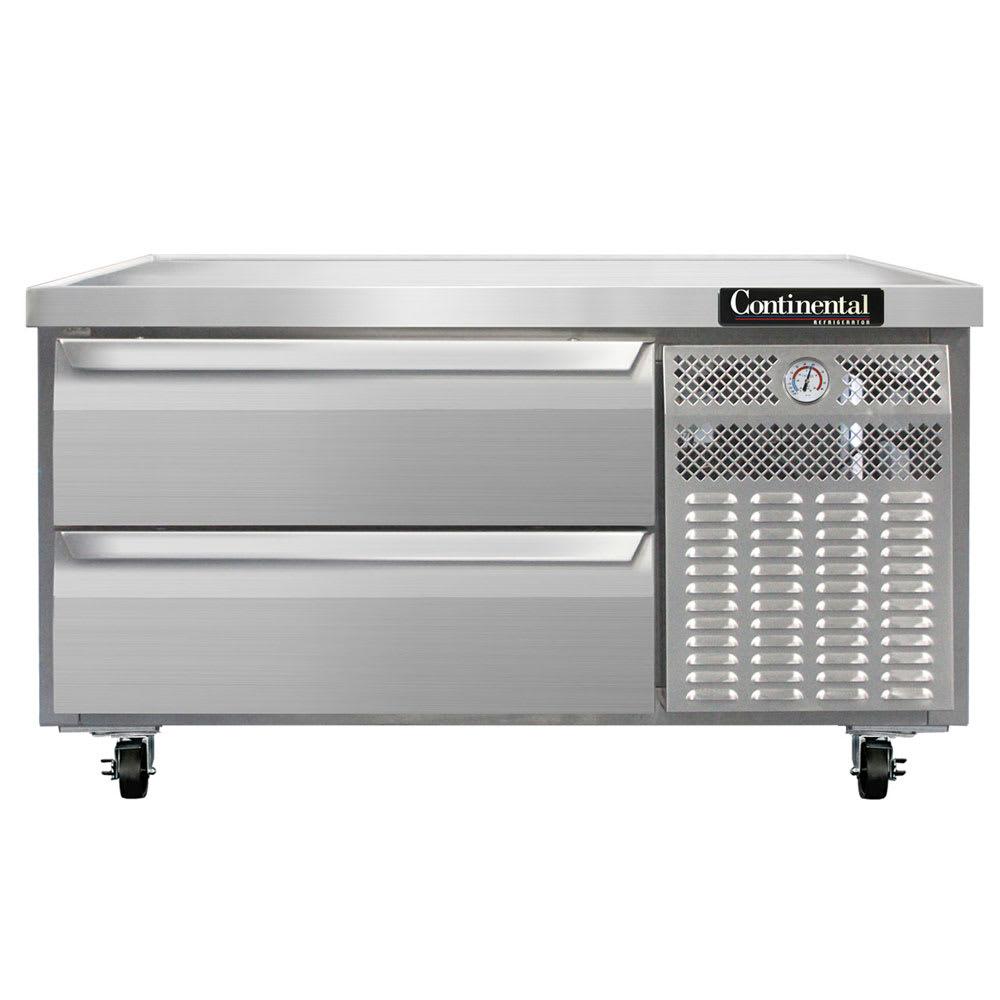 "Continental Refrigeration DL48G 48"" Chef Base w/ (2) Drawers - 115v"