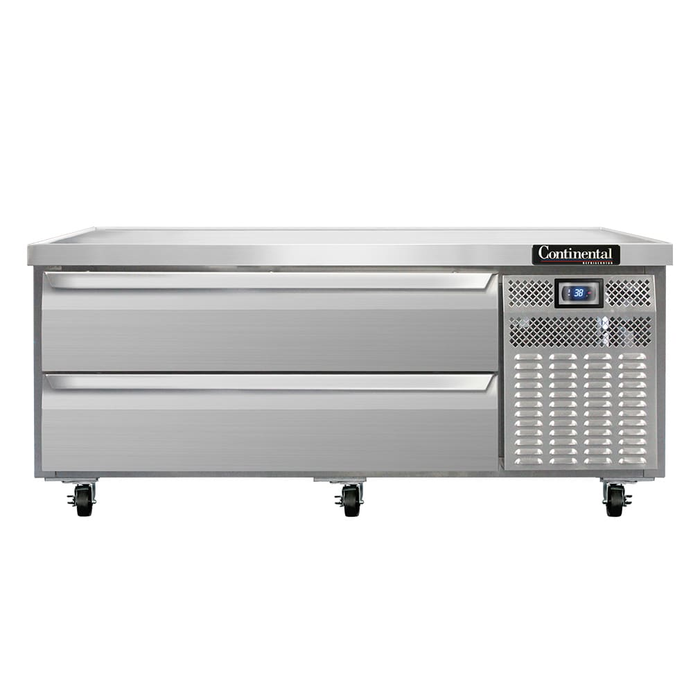 "Continental Refrigeration DL60G 60"" Chef Base w/ (2) Drawers - 115v"