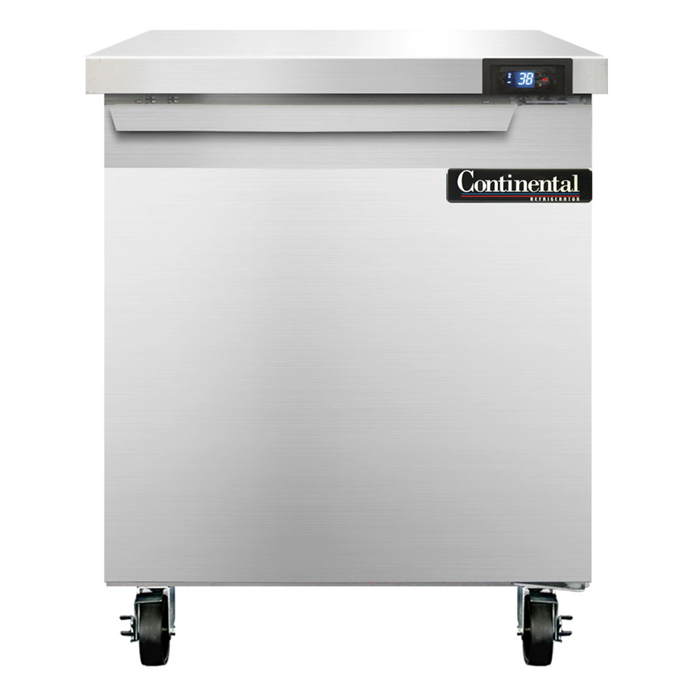 "Continental Refrigeration SW27 27"" Worktop Refrigerator w/ (1) Section, 115v"
