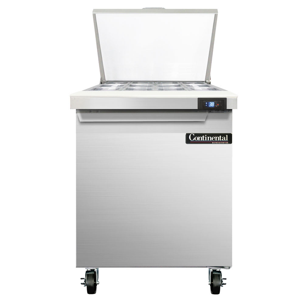 "Continental Refrigeration SW27-12M 27"" Sandwich/Salad Table w/ Refrigerated Base, 115v"
