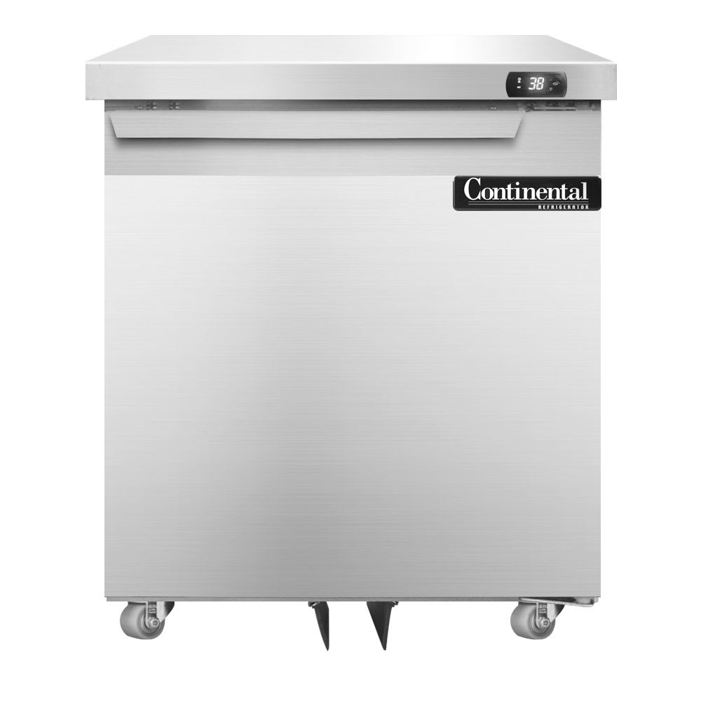 Continental Refrigeration SW27-U 7.4 cu ft Undercounter Refrigerator w/ (1) Section & (1) Door, 115v