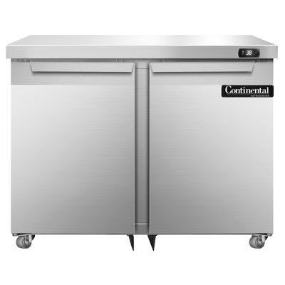 Continental Refrigeration SW36-U 10.3 cu ft Undercounter Refrigerator w/ (2) Sections & (2) Doors, 115v