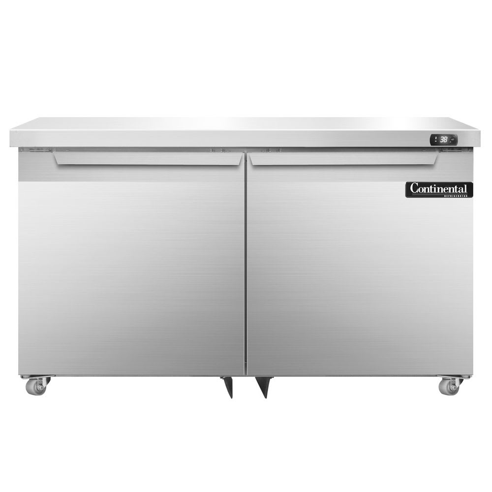 Continental Refrigeration SW48-U 13.4 cu ft Undercounter Refrigerator w/ (2) Sections & (2) Doors, 115v
