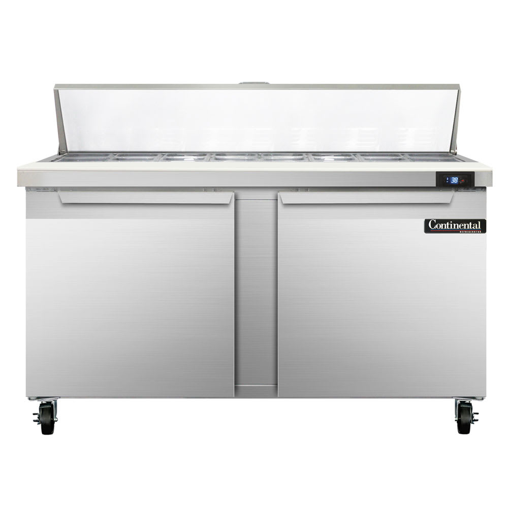 "Continental Refrigeration SW60-16 60"" Sandwich/Salad Prep Table w/ Refrigerated Base, 115v"