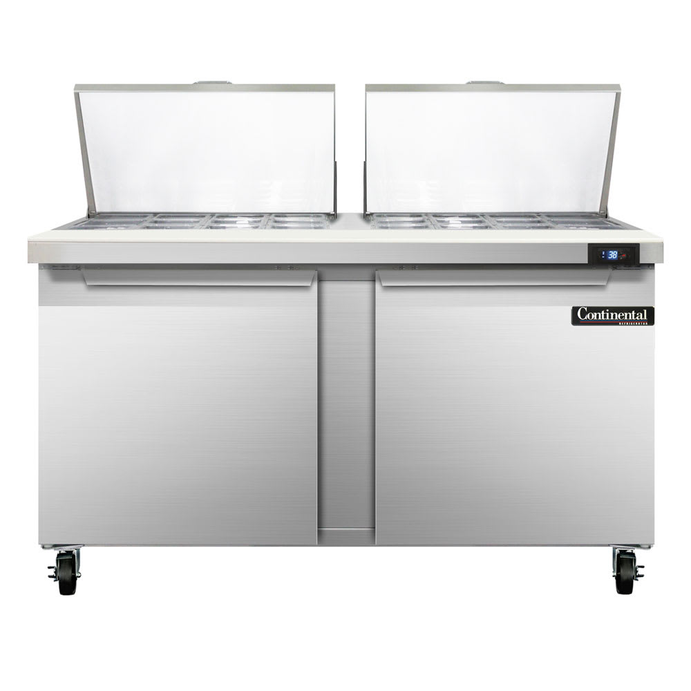 "Continental Refrigeration SW60-24M 60"" Sandwich/Salad Prep Table w/ Refrigerated Base, 115v"