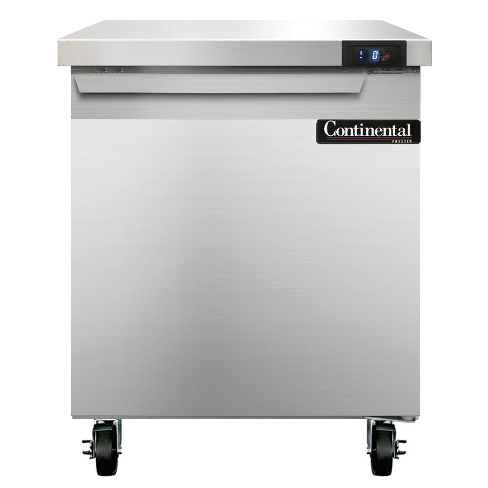 Continental Refrigeration SWF27 7.4-cu ft Worktop Freezer w/ (1) Section & (1) Door, 115v