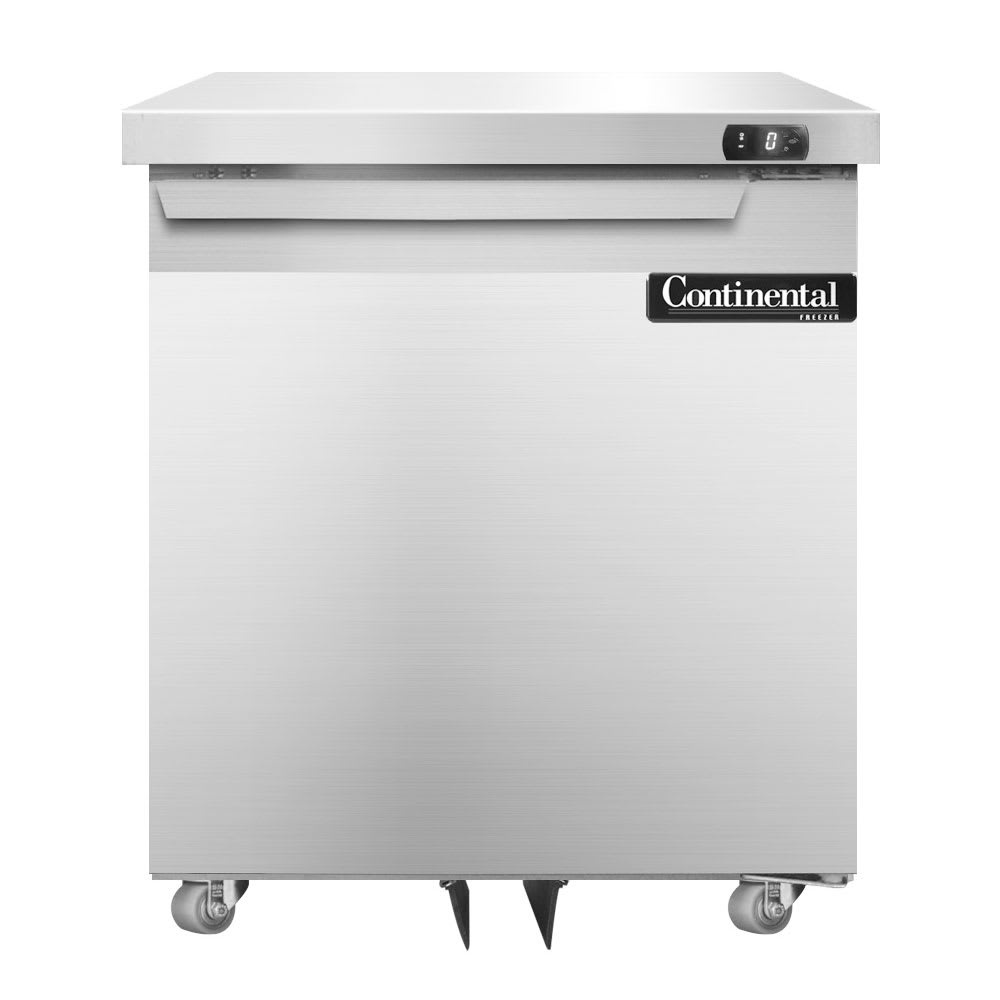 Continental Refrigeration SWF27-U 7.4-cu ft Undercounter Freezer w/ (1) Section & (1) Door, 115v