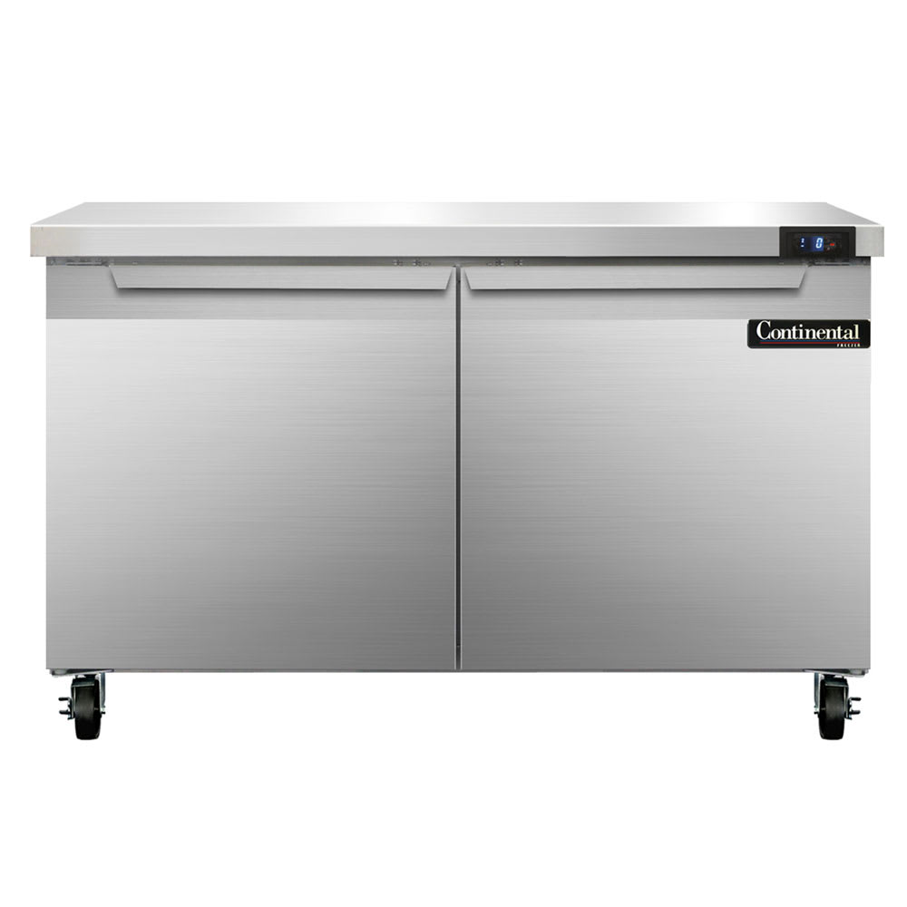 Continental Refrigeration SWF48 13.4-cu ft Worktop Freezer w/ (2) Sections & (2) Doors, 115v