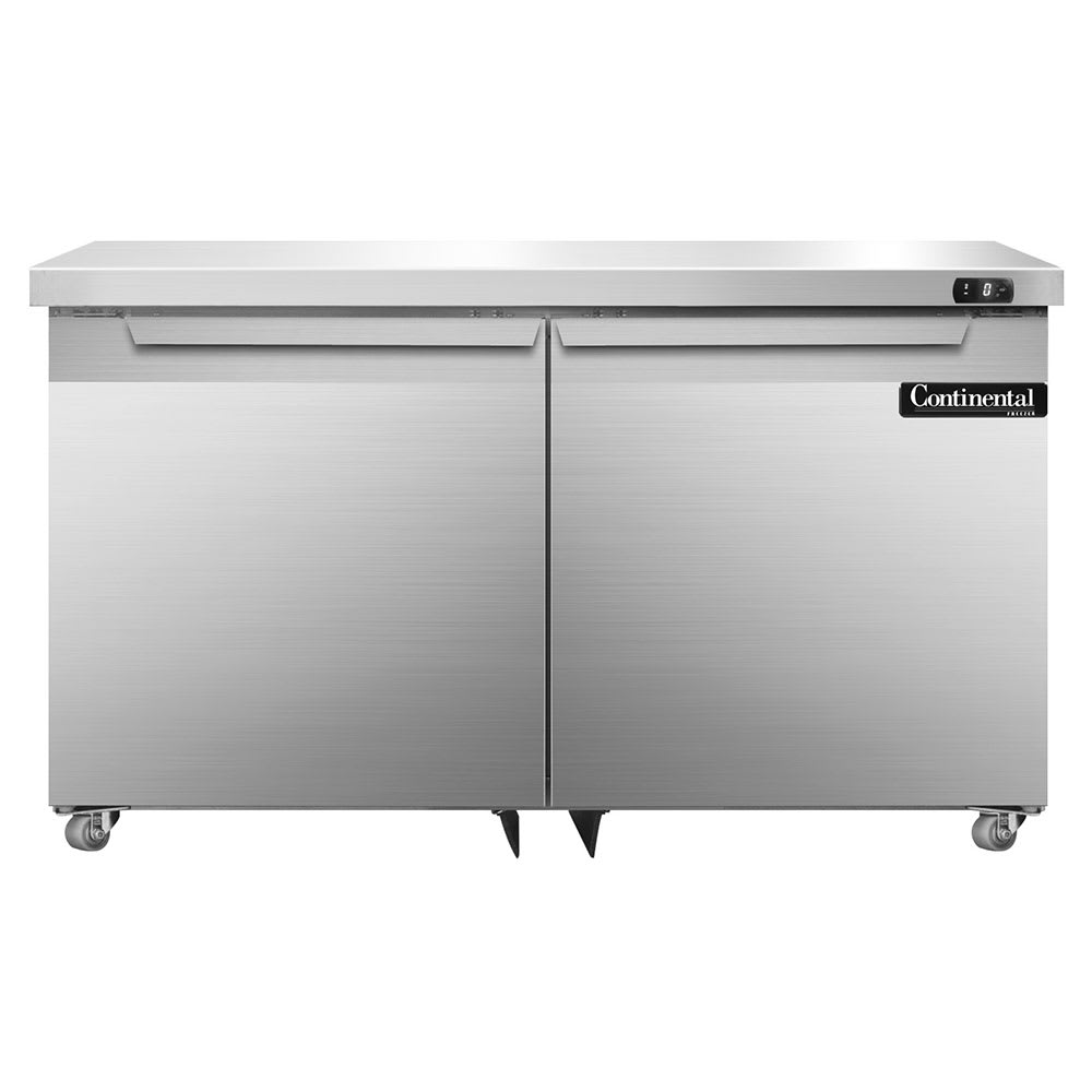Continental Refrigeration SWF48-U 13.4 cu ft Undercounter Freezer w/ (2) Sections & (2) Doors, 115v