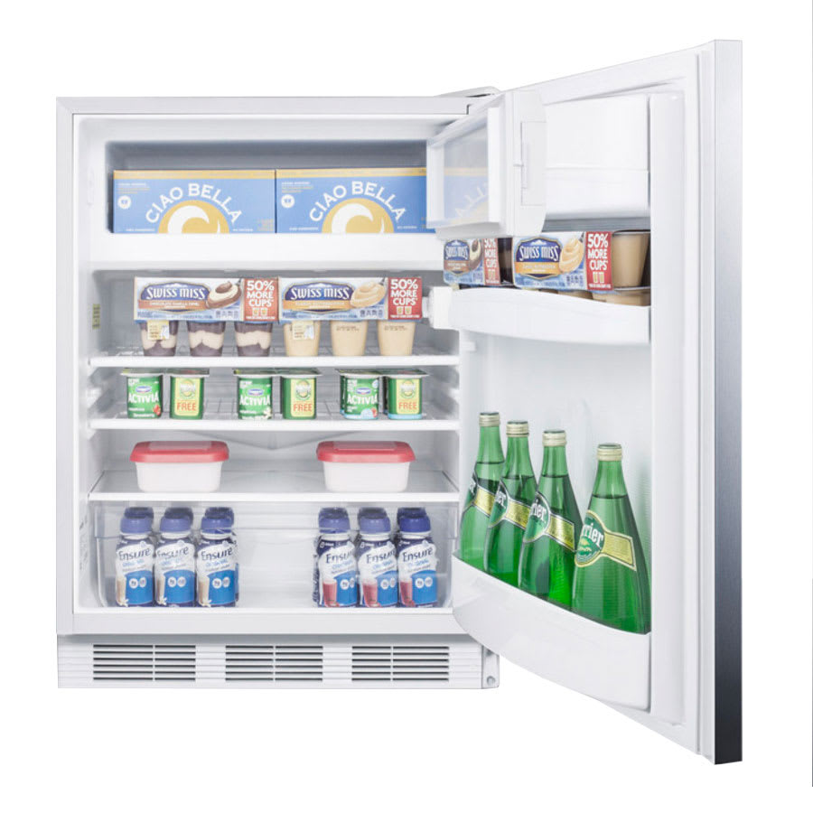 Summit AL650SSHH Undercounter Medical Refrigerator Freezer - Dual Temp, 115v