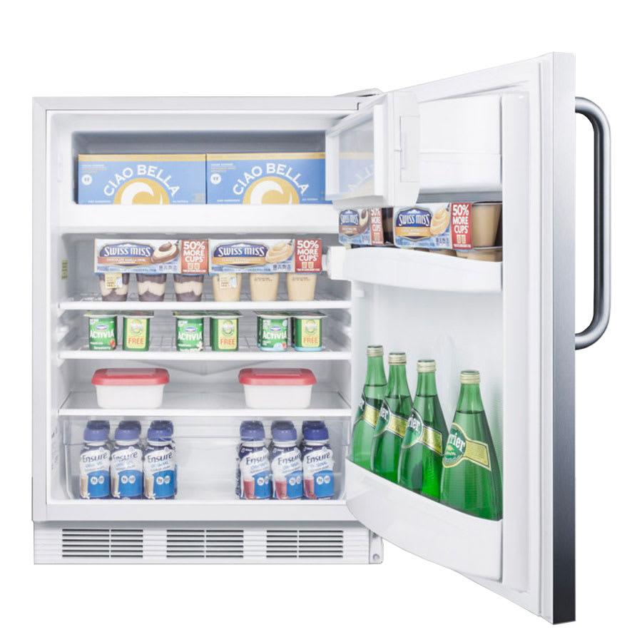 Summit AL650SSTB Undercounter Medical Refrigerator Freezer - Dual Temp, 115v