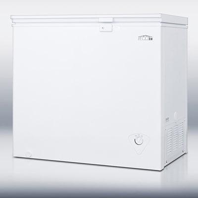 "Summit CF07L 37.25"" Chest Freezer - Manual Defrost, 7 cu ft, White"