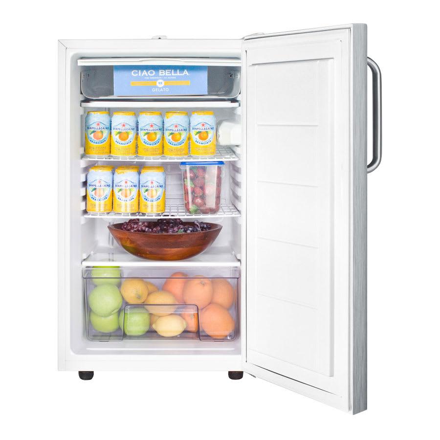 Summit CM411L7SSTBADA 4.1-cu ft Undercounter Refrigerator Freezer w/ (1) Section & (1) Door, 115v