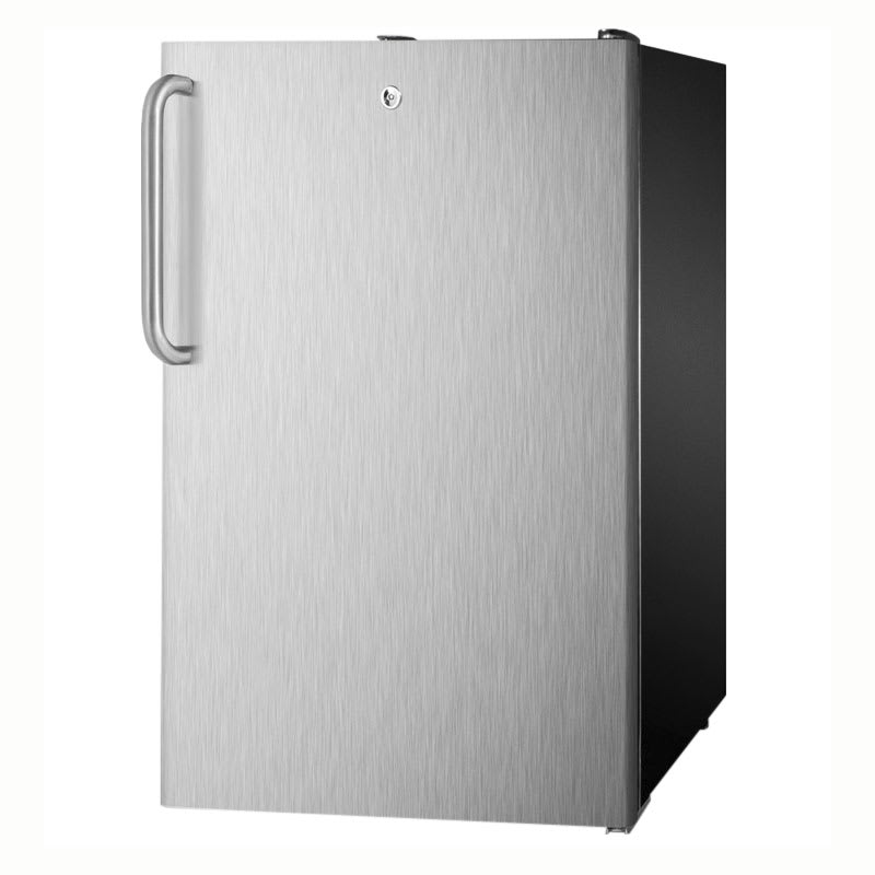 Summit CM421BL7SSTBADA 4.1-cu ft Undercounter Refrigerator Freezer w/ (1) Section & (1) Door, 115v