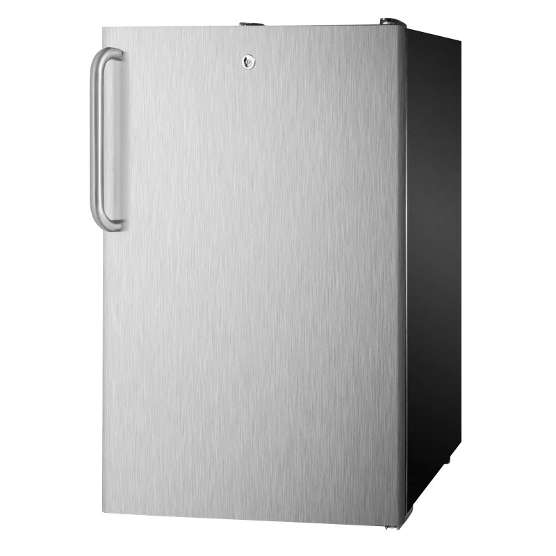 Summit CM421BLBI7SSTB 4.1-cu ft Undercounter Refrigerator Freezer w/ (1) Section & (1) Door, 115v