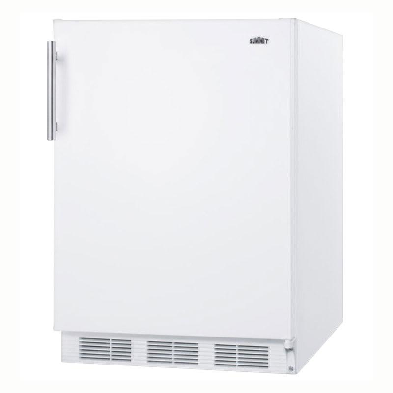 "Summit CT661 24"" Refrigerator Freezer w/ Dual Evaporator, 5.1-cu ft, White, 115v"