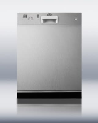 Summit DW2432SSADA Dishwasher w/ 12-Place Setting, 4-Programs & 3-Way Filter System, Stainless, ADA