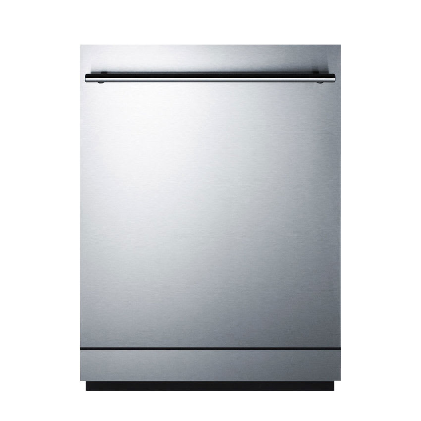 "Summit DW2433SS2 24"" Dishwasher w/ 12 Place Setting & 5 Programs, Stainless"