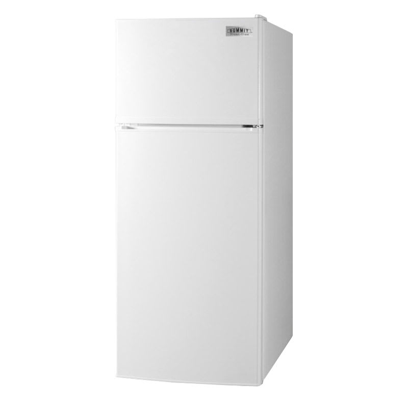 "Summit FF1118W 24"" Refrigerator Freezer Combo - Reversible Doors, 10 cu ft, White"