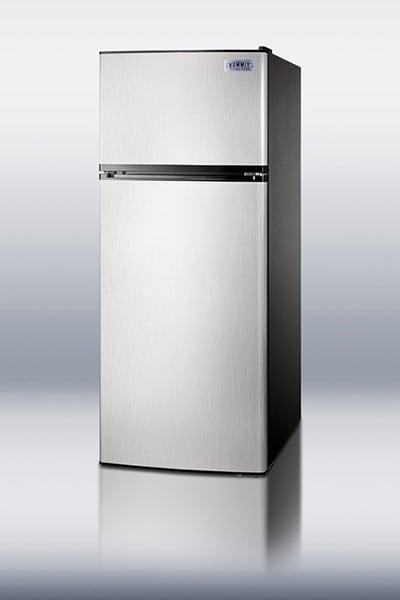 "Summit FF1158SS 24"" Refrigerator Freezer Combo - 2-Reversible Doors, 10-cu ft, Stainless"