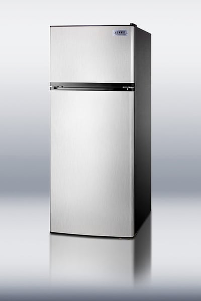 "Summit FF1158SSIM 24"" Refrigerator Freezer Combo - 2-Reversible Doors, Icemaker, 10-cu ft, Stainless"