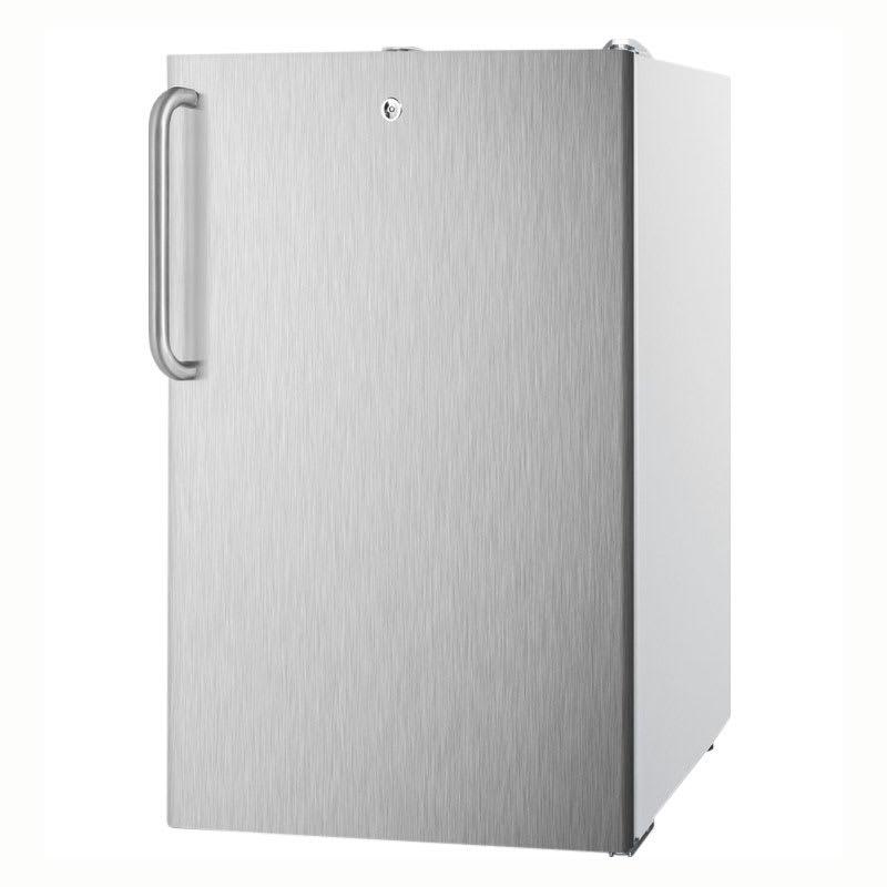 Summit FF511L7SSTB 4.1-cu ft Undercounter Refrigerator w/ (1) Section & (1) Door, 115v