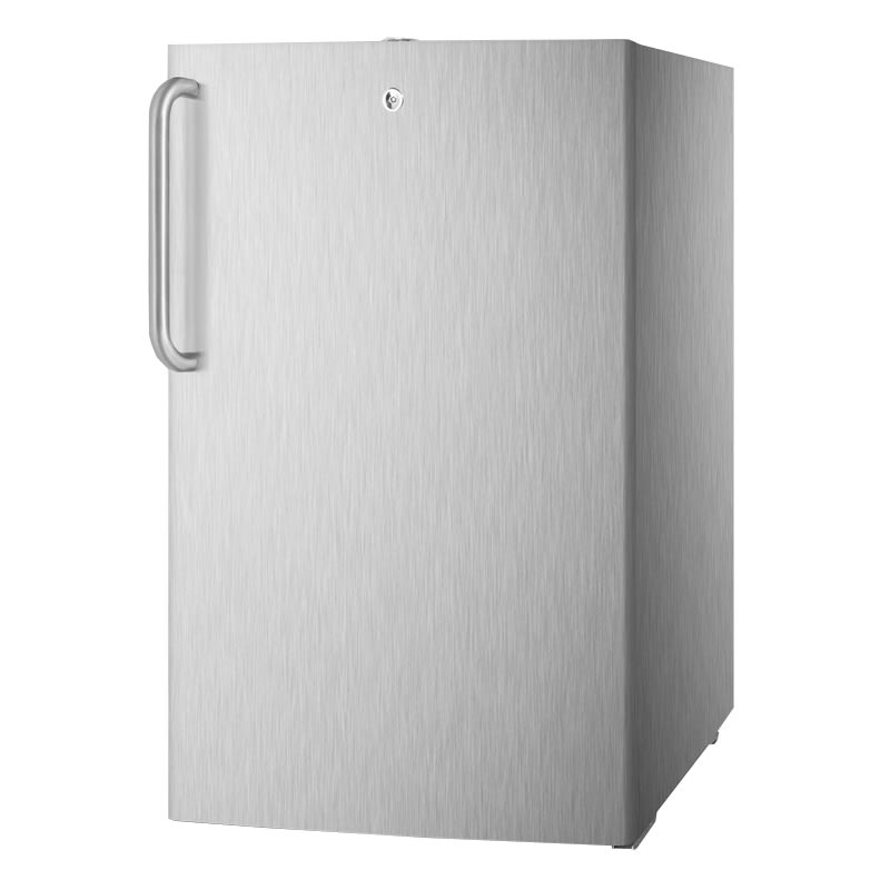 Summit FF511LCSSADA 20 in Undercounter Refrigerator w/ Pro Handle & Auto Defrost, Stainless, 4.5 cu ft, ADA