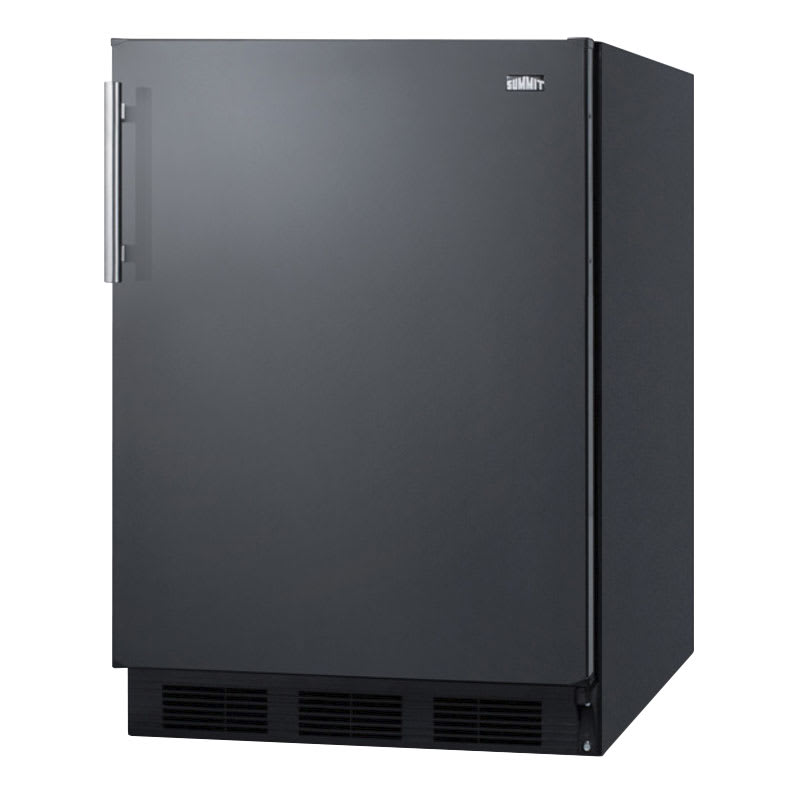 "Summit FF63B 24"" Undercounter Refrigerator w/ Automatic Defrost, 5.5-cu ft, Black"