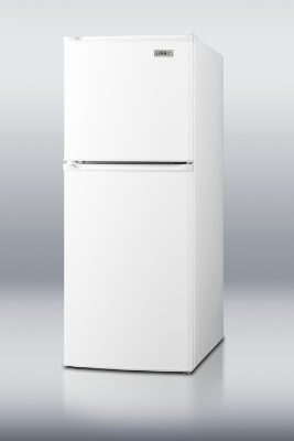 Summit FF71 18-in Frost Free Refrigerator w/ 2-Door, Shelves & Thermostat, White, 4.8-cu ft, ADA