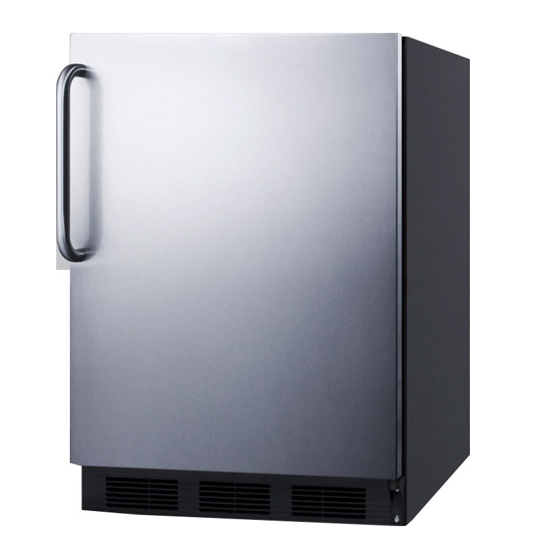 Summit FF7BBISSTB 5.5 cu ft Undercounter Refrigerator w/ (1) Section & (1) Door, 115v