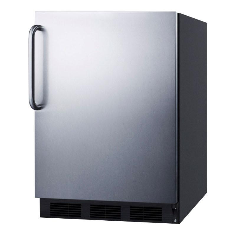 Summit FF7BSSTB 5.5 cu ft Undercounter Refrigerator w/ (1) Section & (1) Door, 115v