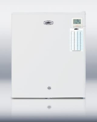 Summit FS22LPLUS Compact Countertop Freezer, 1.3-cu ft, Traceable Thermometer, Lock, White
