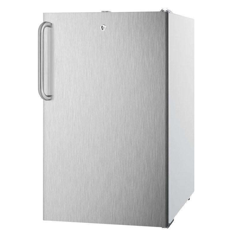 Summit FS407L7SSTB 2.8-cu ft Undercounter Freezer w/ (1) Section & (1) Door, 115v
