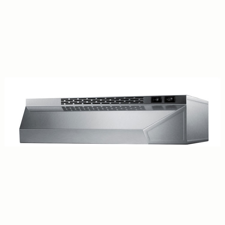 "Summit H1620SS 20"" Convertible Range Hood, Stainless"