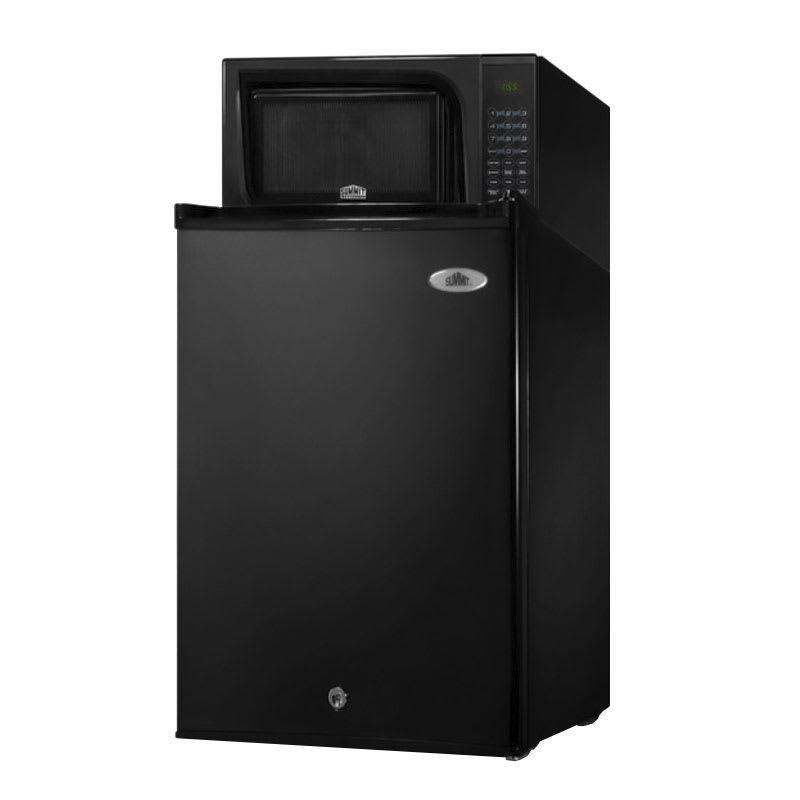 "Summit MRF29B 18.5"" Refrigerator/Microwave Combo - Auto Defrost, 2.5 cu ft, Black"