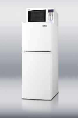 Summit MRF71 Refrigerator Freezer Microwave w/ Allocator Box & Reversible Doors, White, 4.8-cu ft