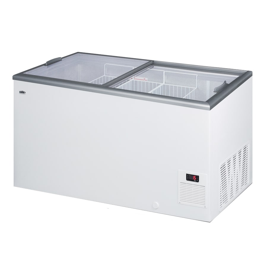 "Summit NOVA45 53"" Stand Alone Ice Cream Freezer w/ Wire Storage Baskets - White, 115v"