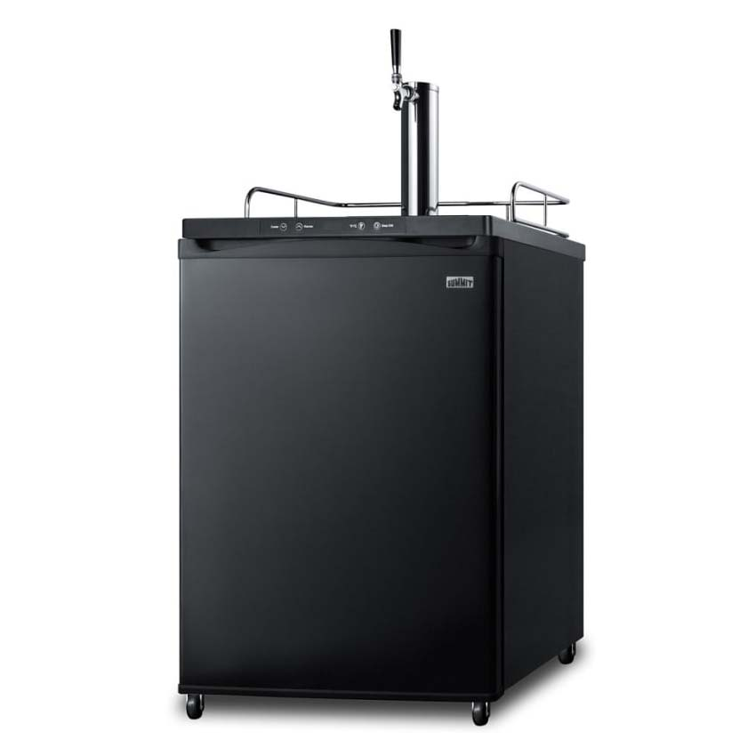 "Summit SBC635M7CF 24"" Draft Cold Brew Coffee Dispenser - (1) Column & (1) Tap, Black, 115v"