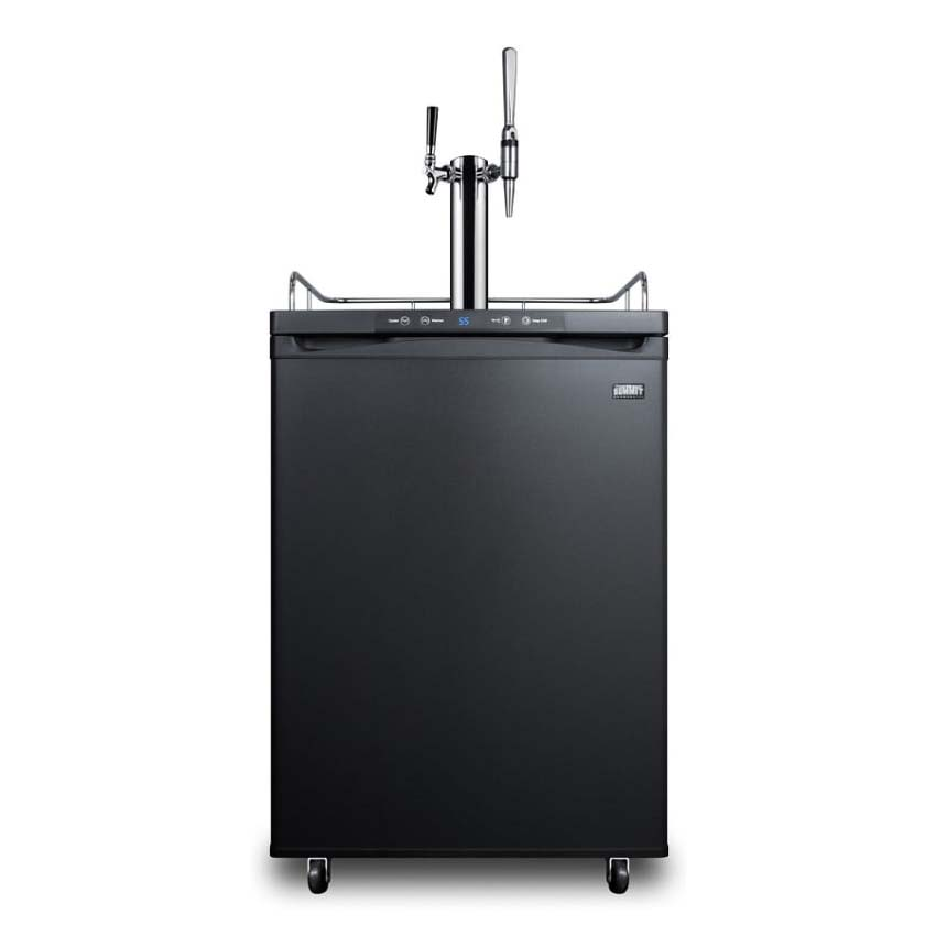 "Summit SBC635M7CMTWIN 24"" Draft Cold Brew & Nitro Coffee Dispenser - (1) Column & (2) Taps, Black, 115v"