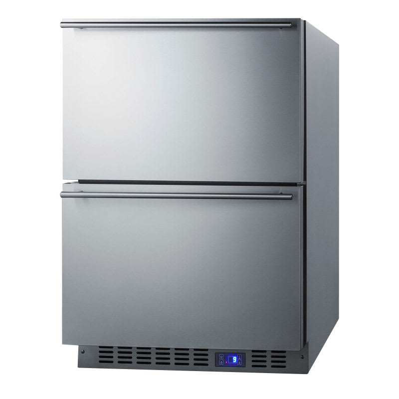 "Summit SPFF51OS2D 24"" Outdoor Freezer - 3.4 cu ft, Stainless"