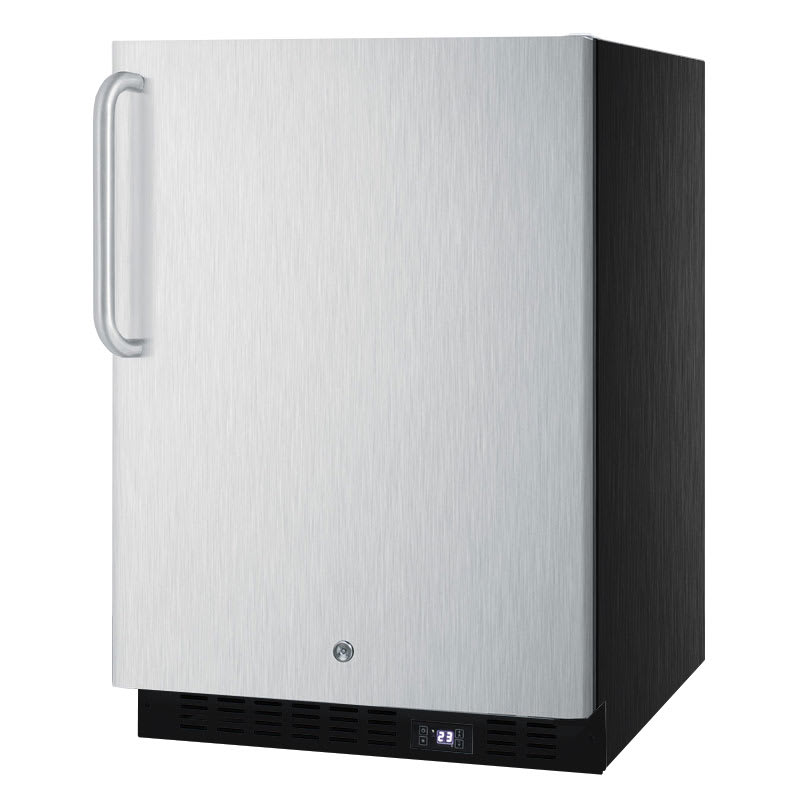 Summit SPFF51OSSSTB 4.72-cu ft Undercounter Freezer w/ (1) Section 7 (1) Door, 115v