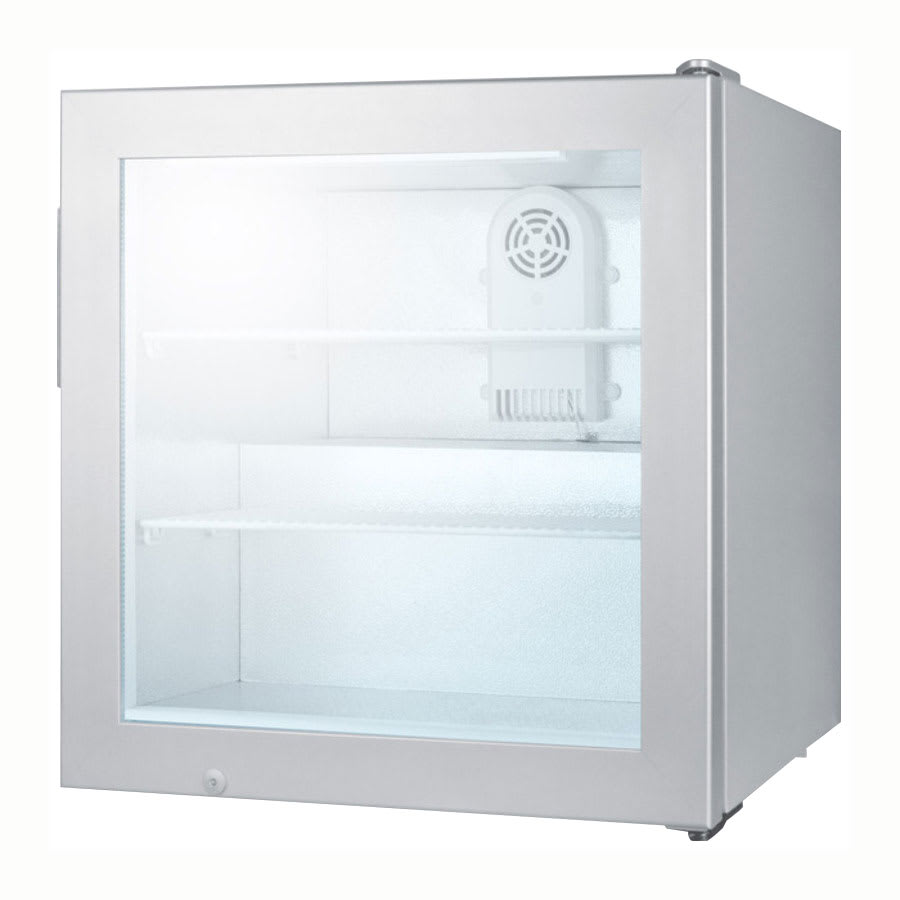 "Summit SCFU386 24"" One-Section Display Freezer w/ Swinging Door - Rear Mount Compressor, 115v"